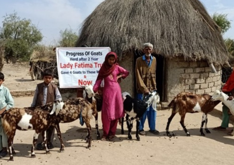 Goats bring income security